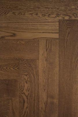 Eiken visgraat vloer Double Smoked Oak (prijs incl. olie)
