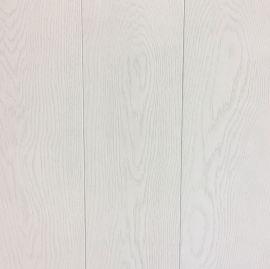Eiken lamelparket vloer dekkend wit