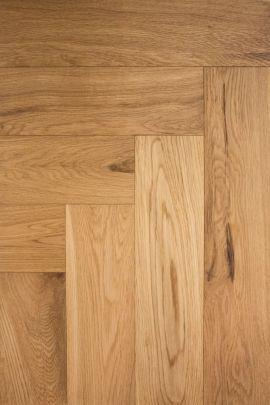 Eiken visgraat vloer Natural Oak (prijs incl. olie)