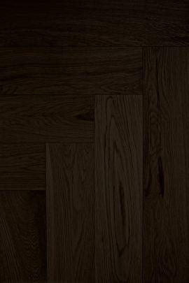 Eiken visgraat vloer Mystic Black (prijs incl. olie)