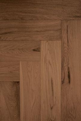 Eiken visgraat vloer Walnut Dark (prijs incl. olie)